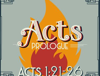 Acts 1:21-26