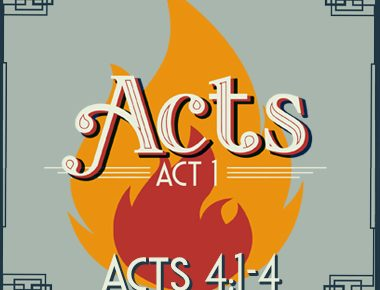 Acts 4:1-4 – 4 Rules for Suffering Well
