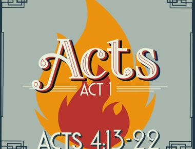 Acts 4:13-22