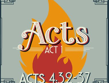 Acts 4:32-37